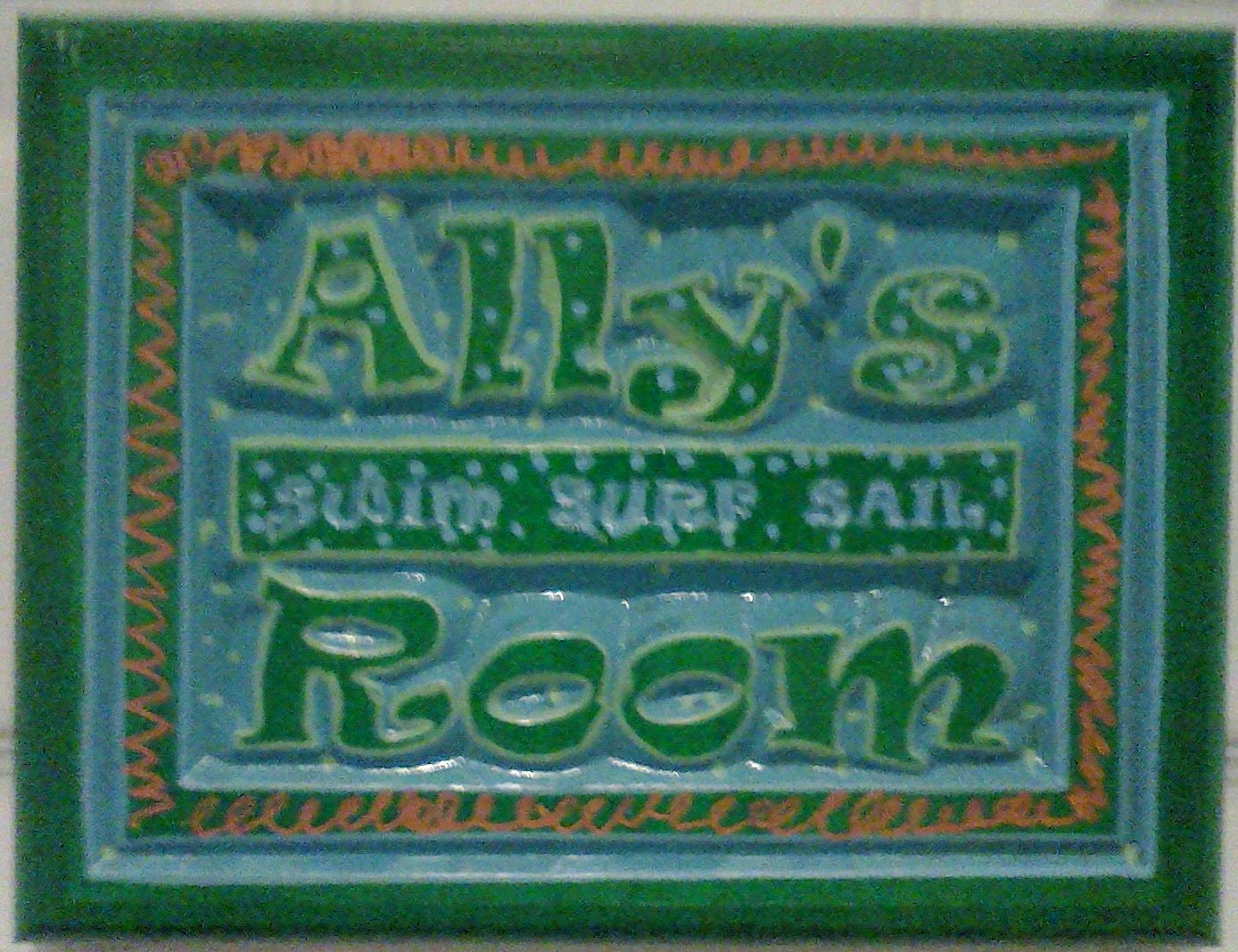 Ally put her own finishing touches on this sign.