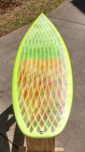 Surfboard Top Tail End